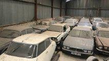 Granjas en Calais con 40 coches clásicos abandonados