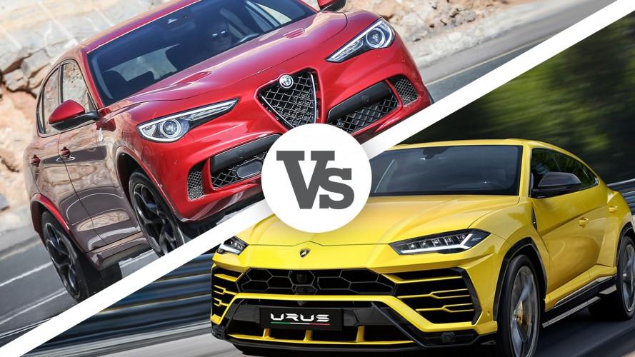 Lamborghini Urus vs Alfa Romeo Stelvio Quadrifoglio, una sfida per niente scontata