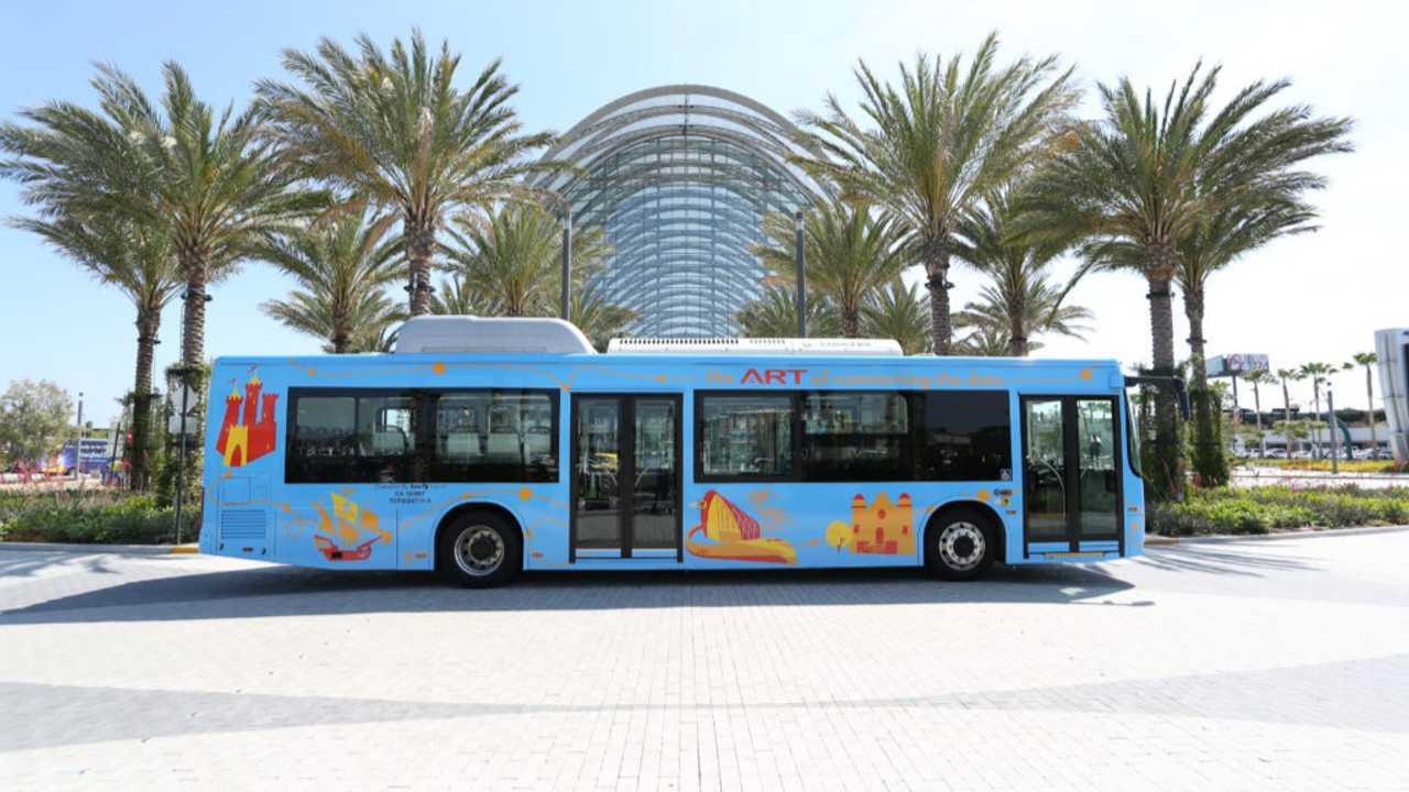 Anaheim Transportation Network electric bus