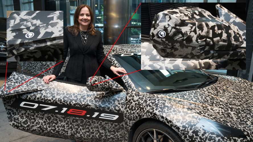 The C8 Corvette In New York Wore Small Zora Arkus-Duntov Stickers