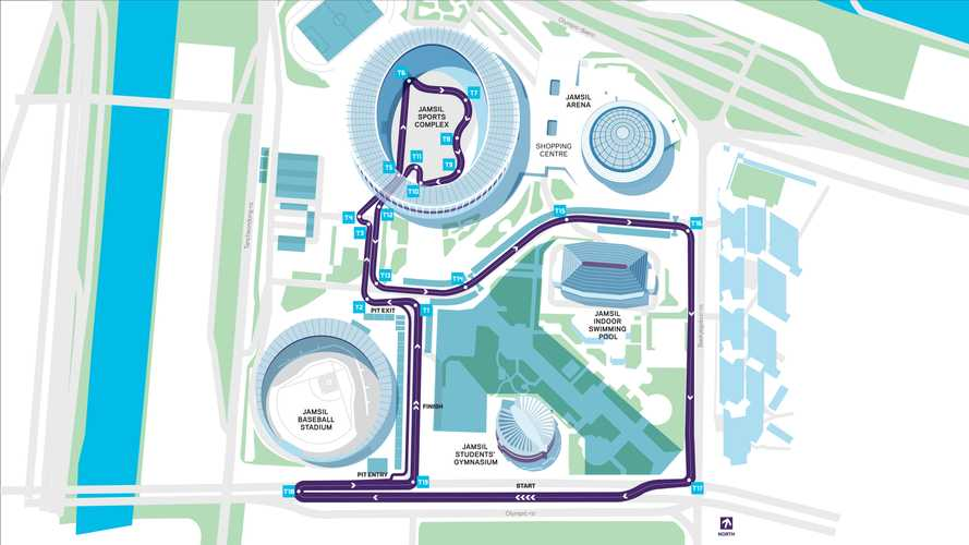 Le tracé de l'E-Prix de Séoul