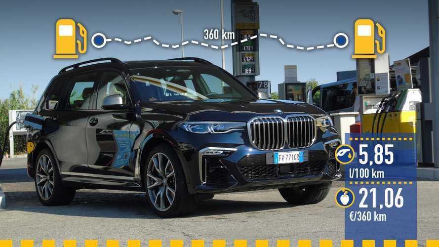 BMW X7 M50d 2019, prueba de consumo real