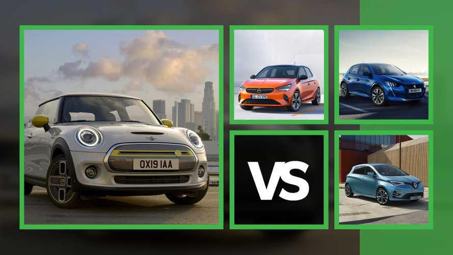 MINI elettrica, a confronto con Peugeot 208, Opel Corsa e Renault Zoe