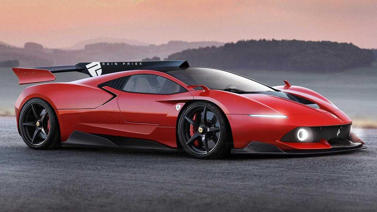 Ferrari Hypercar Rendering