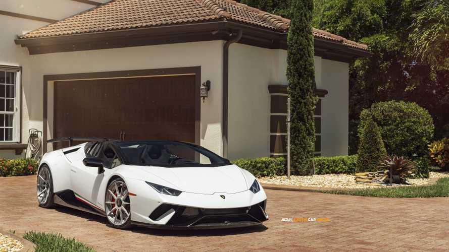 Lamborghini Huracan Performante Spyder on ADV.1 wheels
