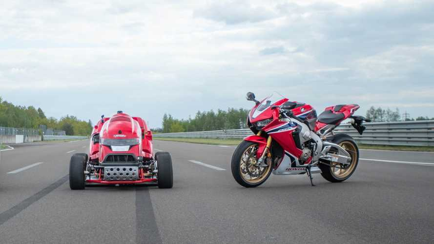 Fireblade-Powered Honda Mean Mower Sets New World Record