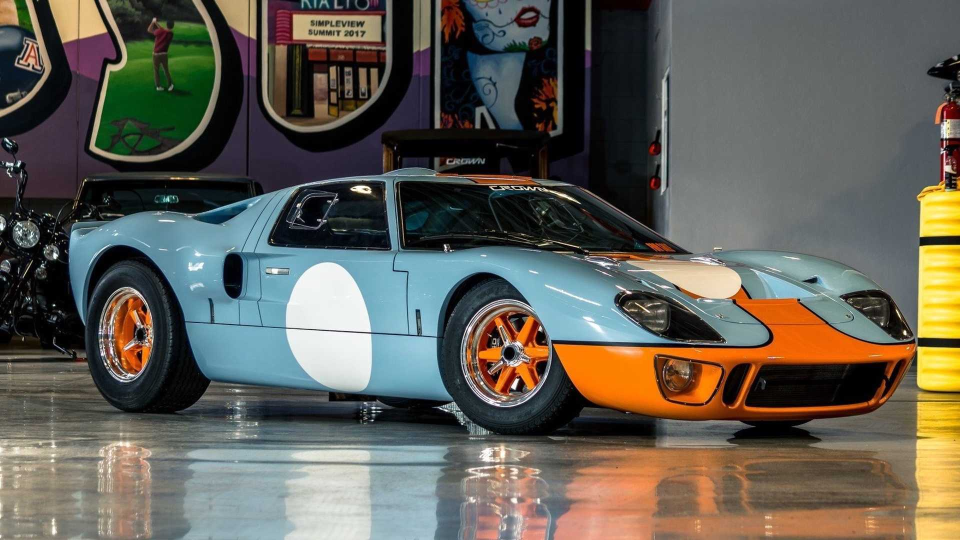 "[""GT40 MK1 Gulf Livery Up For Grabs""]"