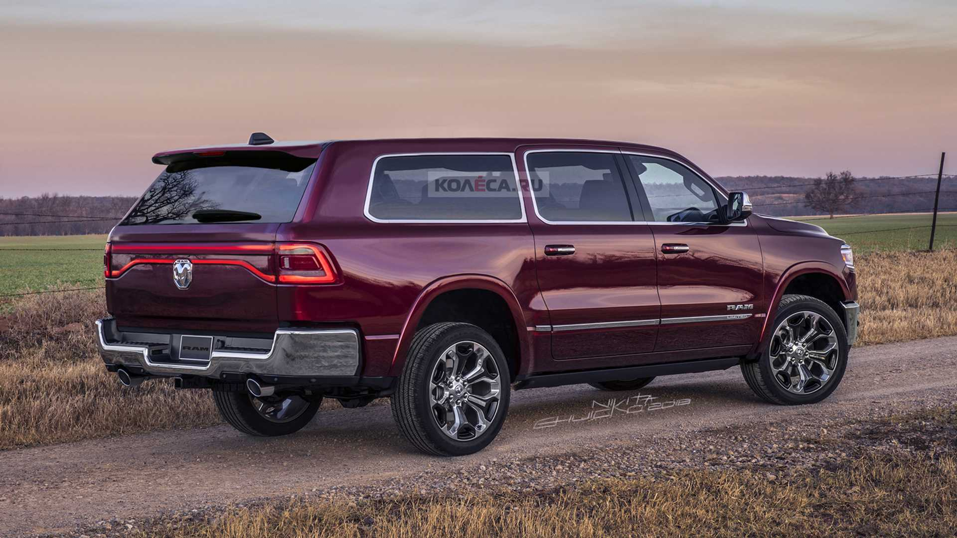 Ram Suv Fan Renderings Reveal A Handsome Full Size People Mover