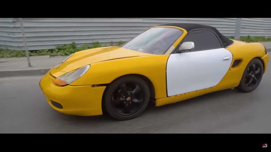 This yellow Porsche Boxster is actually a... Lada?