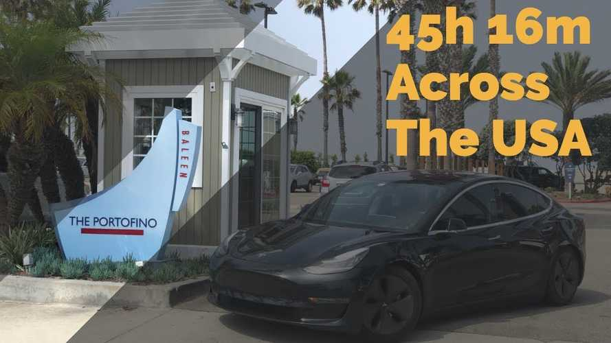 Time-Lapse Tesla Model 3 Video Proves New EV Cannonball Run Record