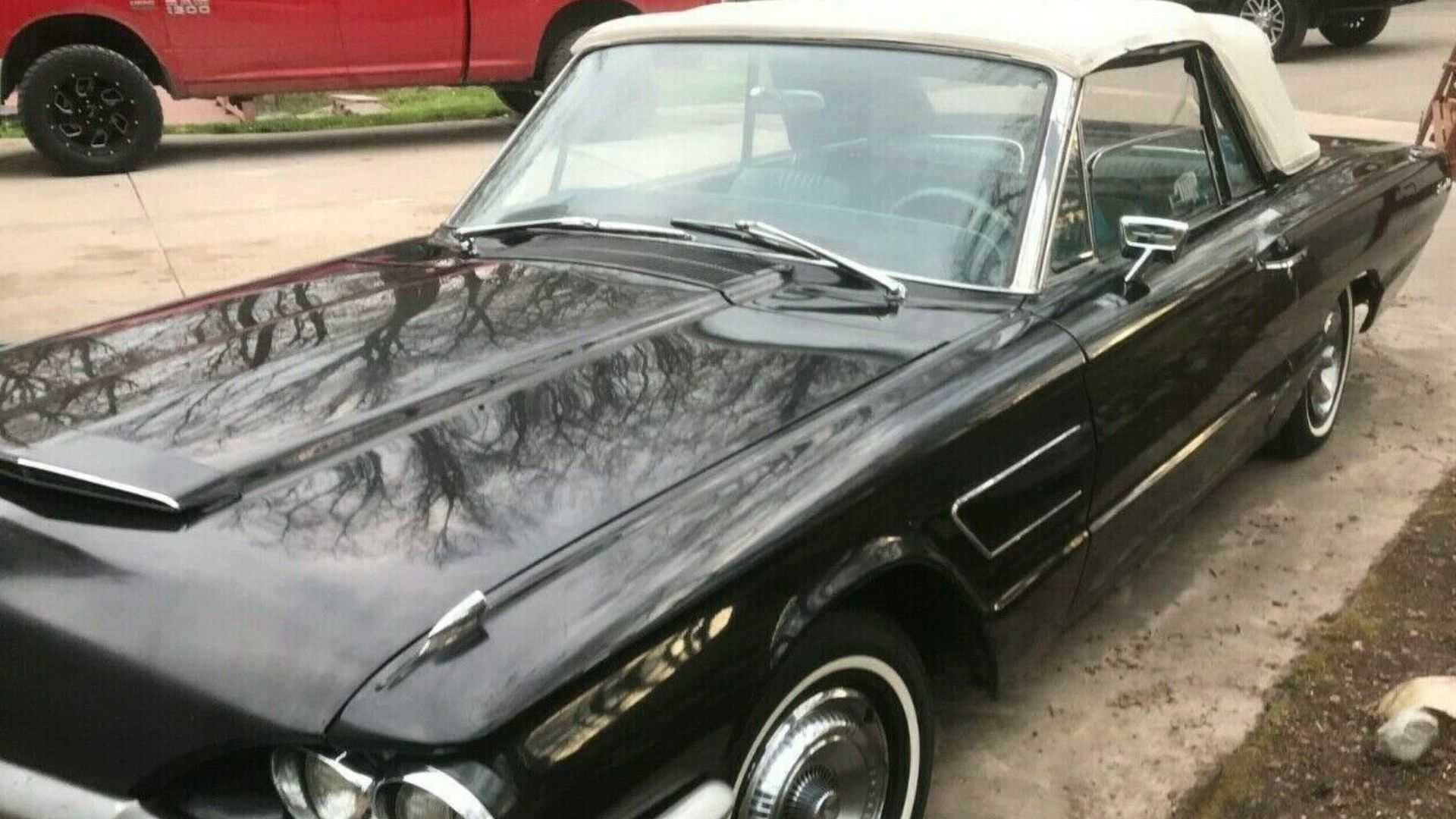 """[""""Well-Preserved 1965 Ford Thunderbird Convertible Ready To Roll""""]"""