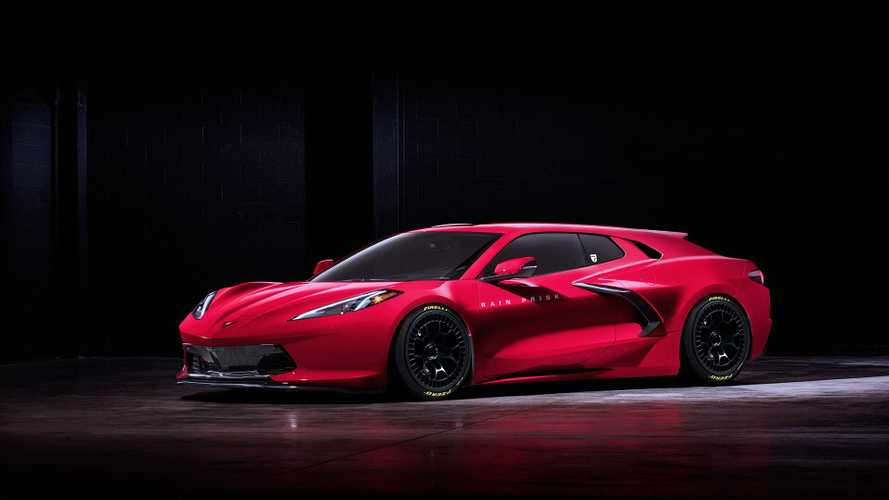 Corvette C8 shooting brake renderings by Rain Prisk