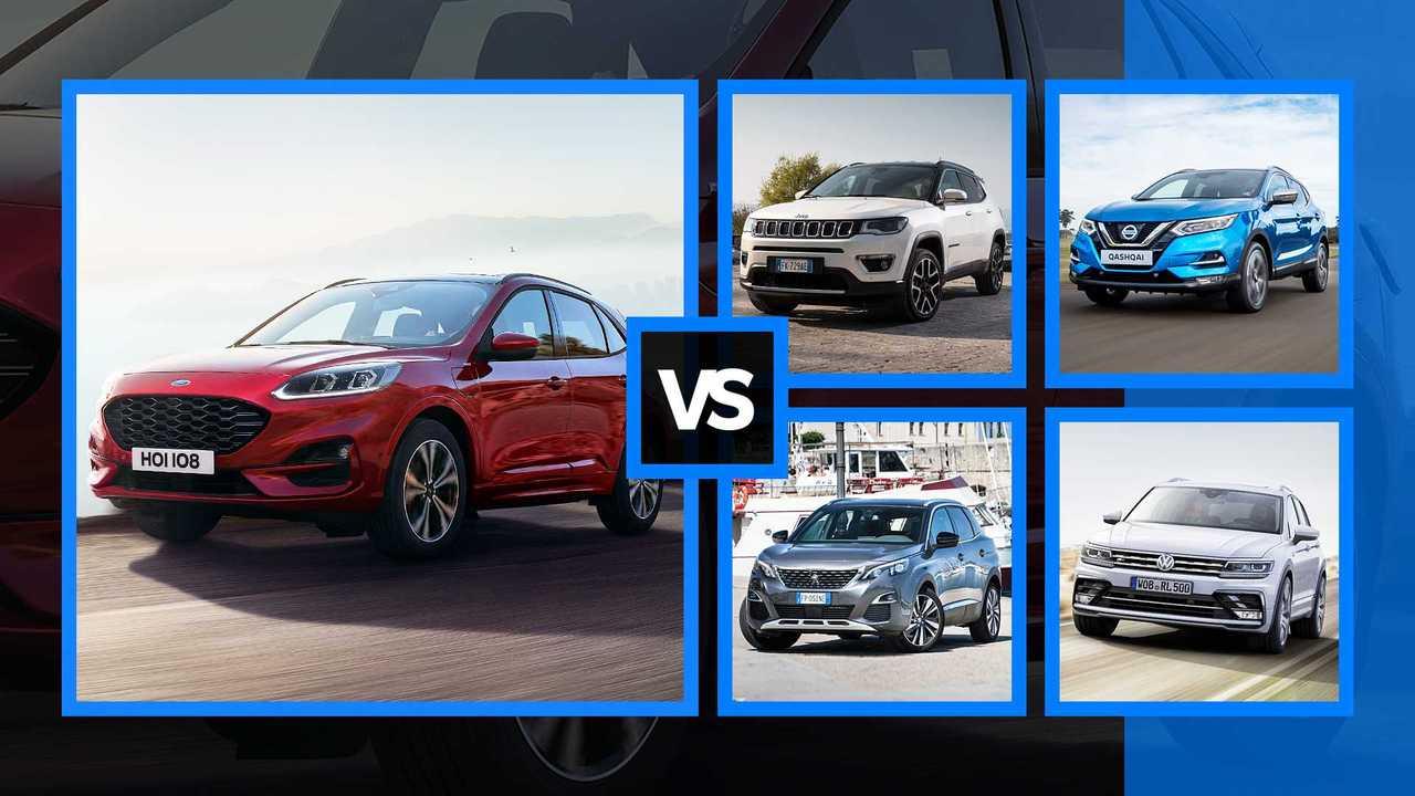 Nuova Ford Kuga, faccia a faccia con le rivali