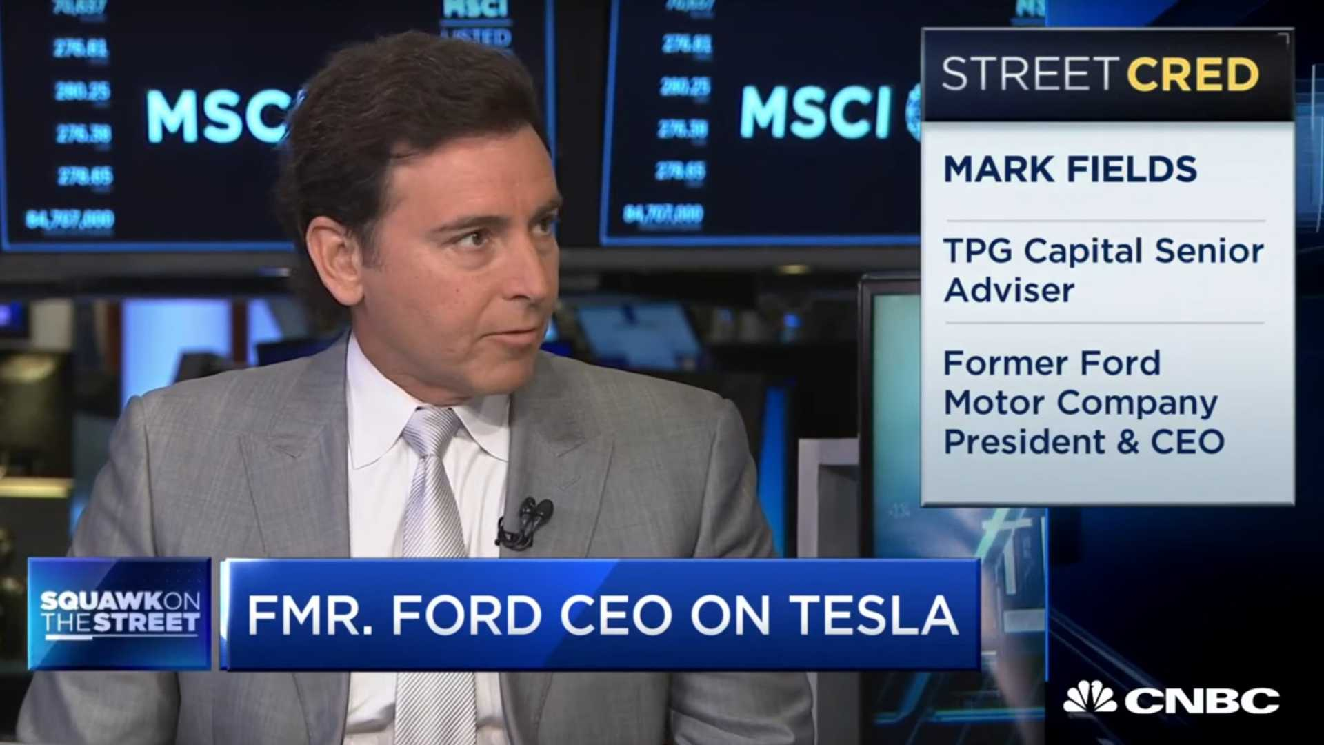 Former Ford CEO Mark Fields On Tesla And EV Demand: Video