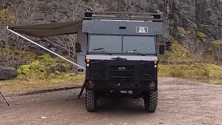 Land Rover 101 military ambulance is now a rugged, bespoke camper