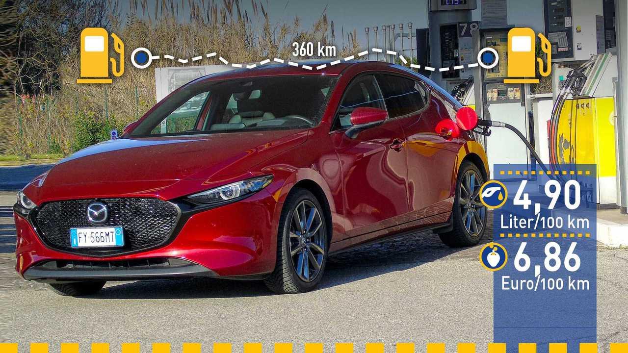 Mazda 3 (2020) im Verbrauchstest