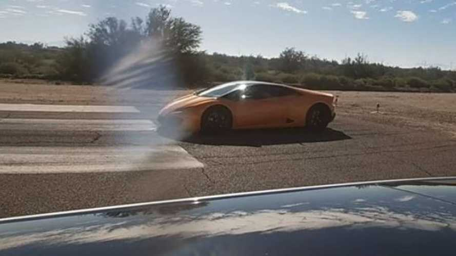 Watch Tesla Model 3 Performance Race Lamborghini Huracan