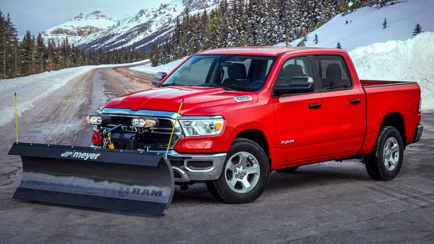 2021 Ram 1500 Snow Plow Prep Package Arrives For Last Bit Of Winter