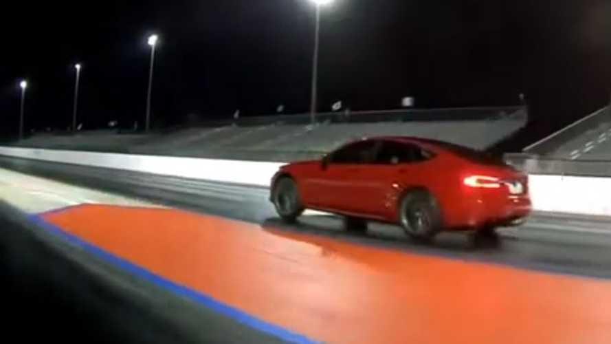 Watch Tesla Model S P100D Blow Away Audi R8: Drag Race Video