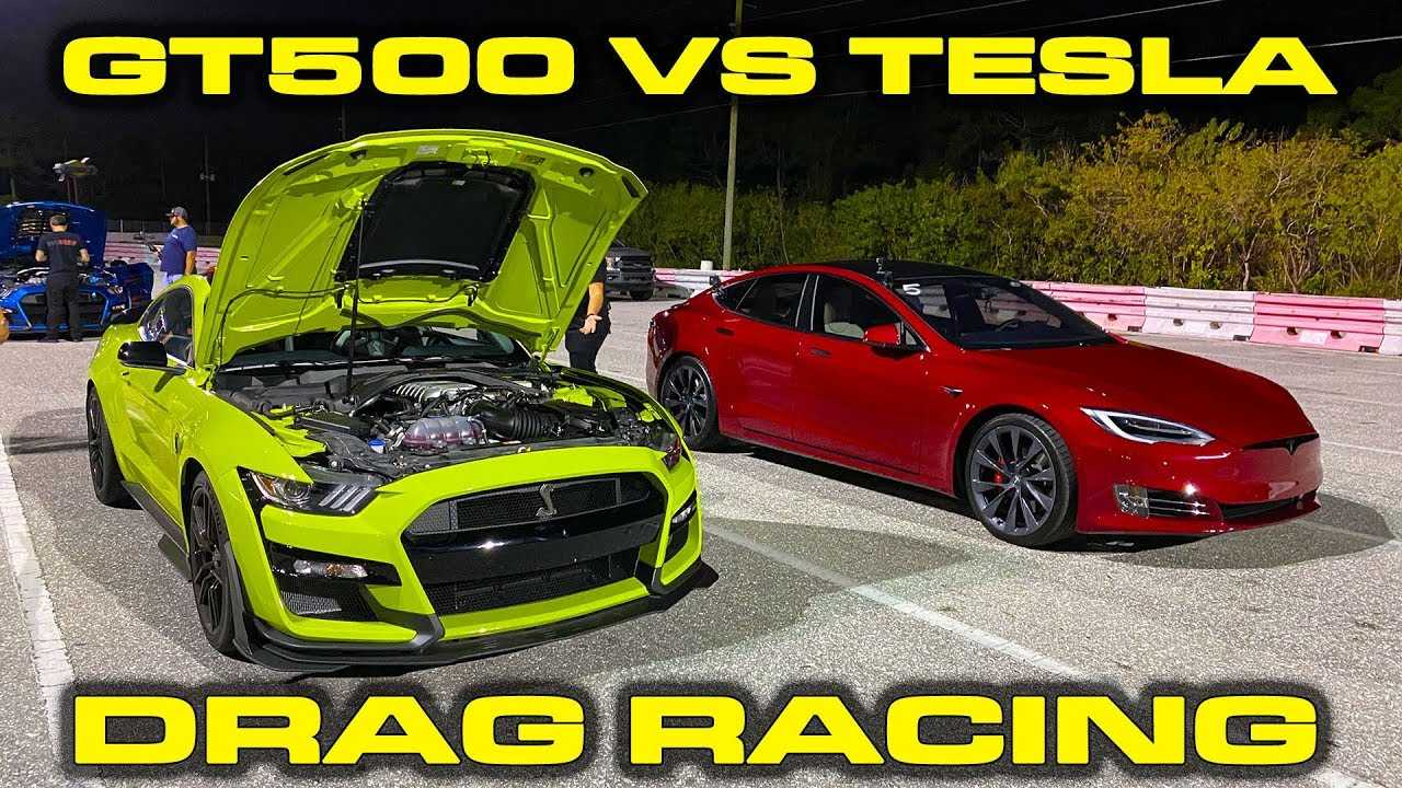 Tesla Model S Performance Vs 2020 Ford Mustang Shelby GT500