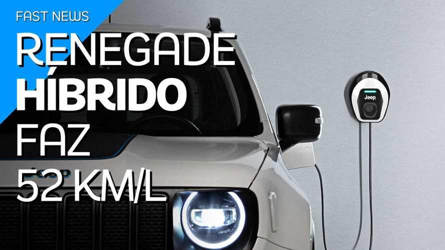 Jeep Renegade que faz 52 km/litro será lançado este ano no Brasil