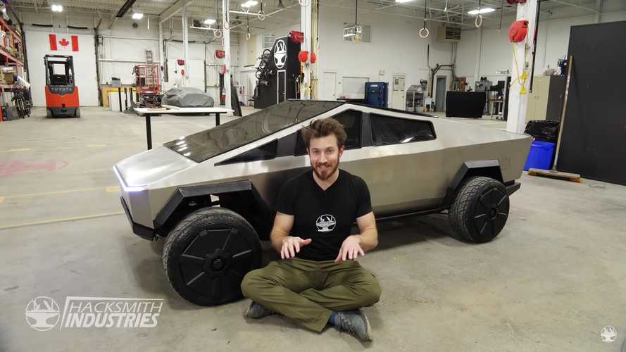 The Hacksmith Finally Finishes Half-Scale Tesla Cybertruck