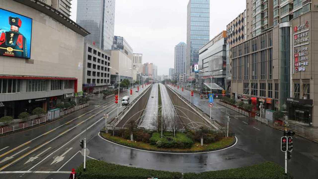 Une rue déserte en Chine à cause du Coronavirus