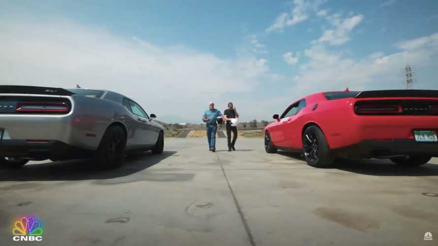 Jay Leno And Tim Allen Get 'Arrested' After Doing Donuts In Hellcats