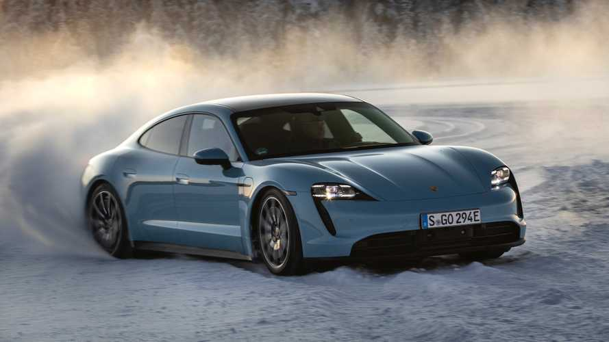 Porsche Taycan 4S 2020: conduciendo sobre hielo