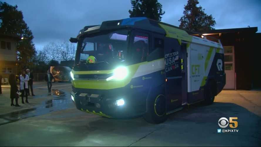 Check out the world's first all-electric fire engine