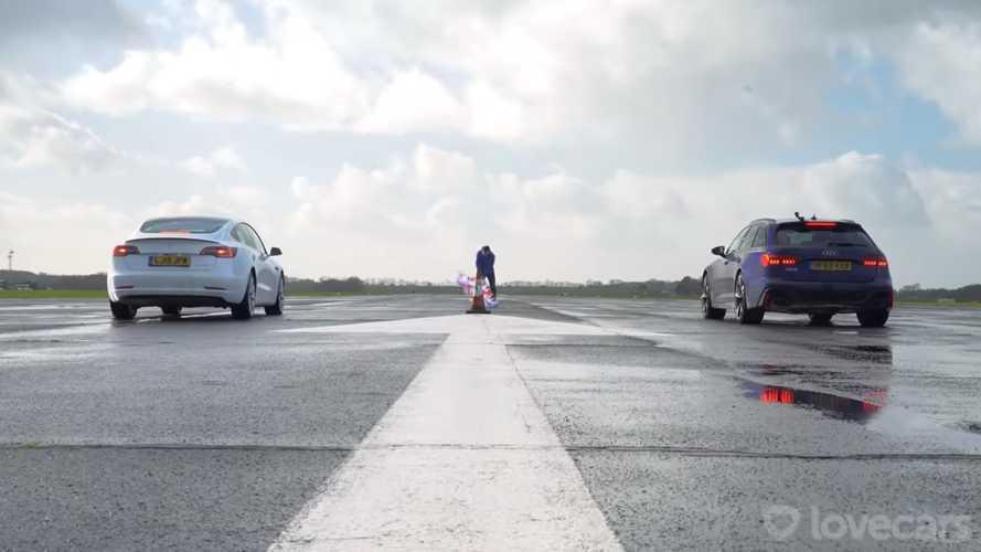 VIDÉO - La nouvelle Audi RS 6 Avant se frotte à la Model 3 Performance