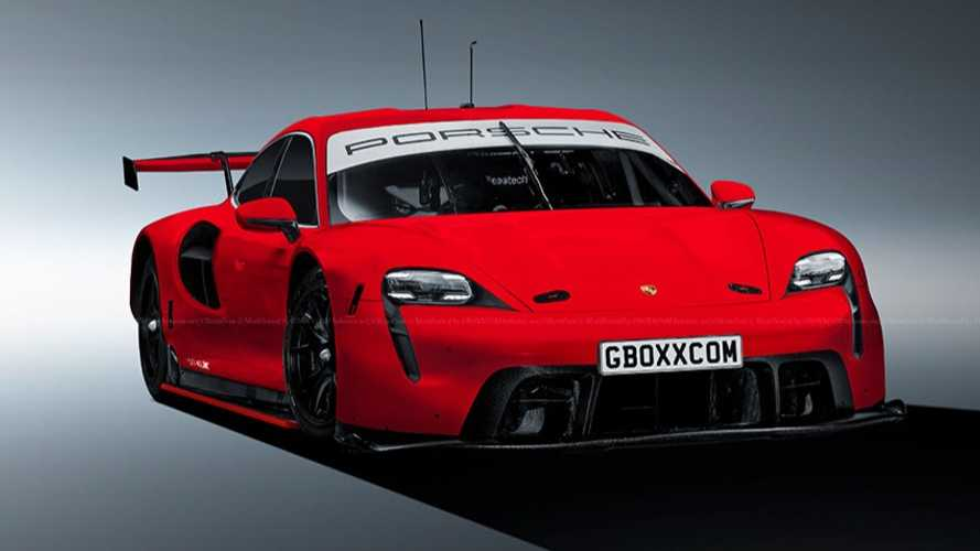 Porsche Taycan RSR race car rendering looks electrifying