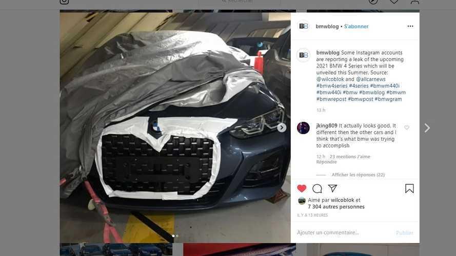 Una vez más, se filtra la enorme parrilla del BMW Serie 4 Coupé 2020
