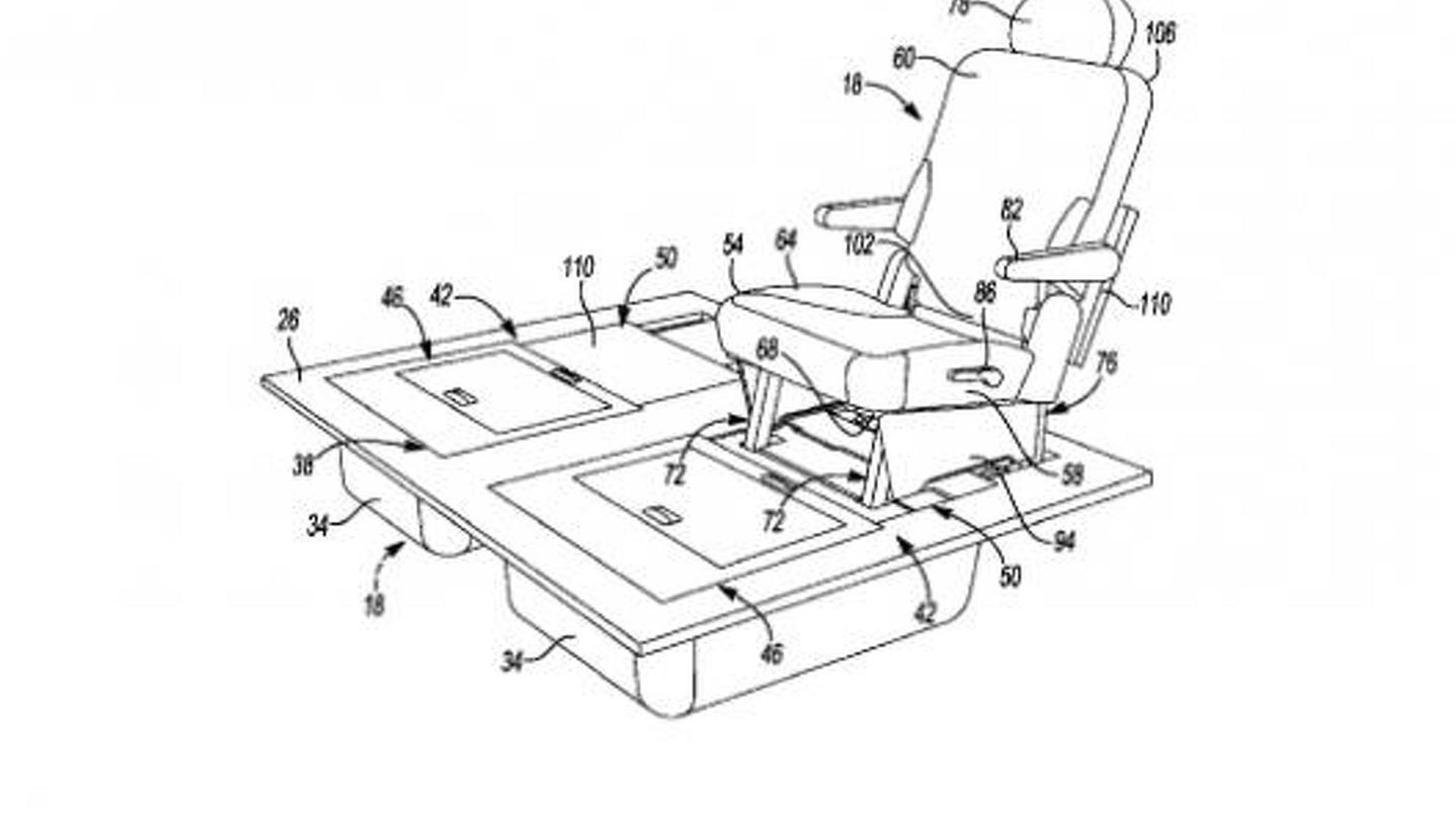 chrysler patents improved stow n go seats could debut on the 2015 Chrysler Minivan Inside chrysler patents improved stow n go seats could debut on the 2015 town country
