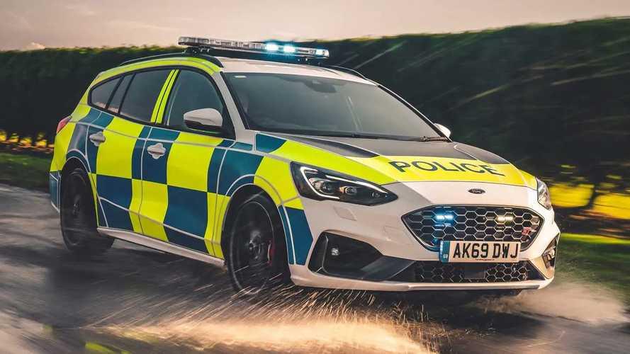 Ford Focus ST and Ranger Raptor U.K. police cars