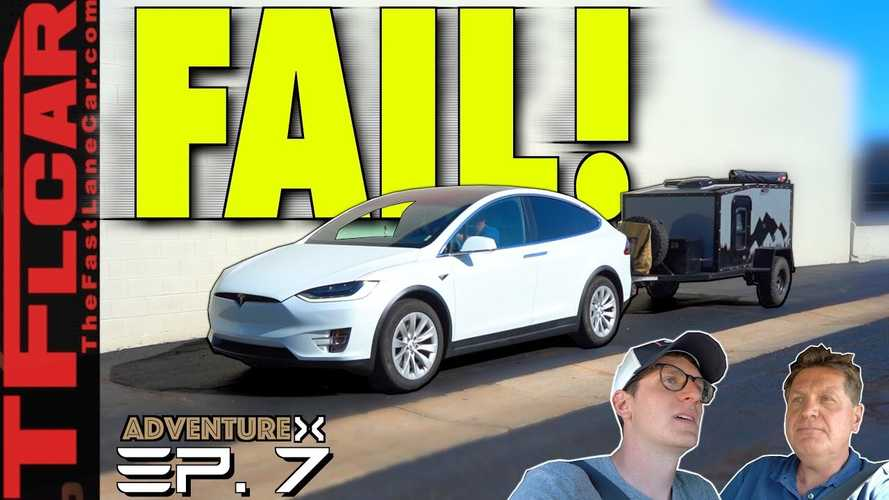 Can A Tesla Model X Tow On A Road Trip? This Video Says It Can't