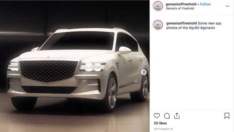 Imágenes de la nueva Genesis GV80 habrían sido filtradas en Instagram