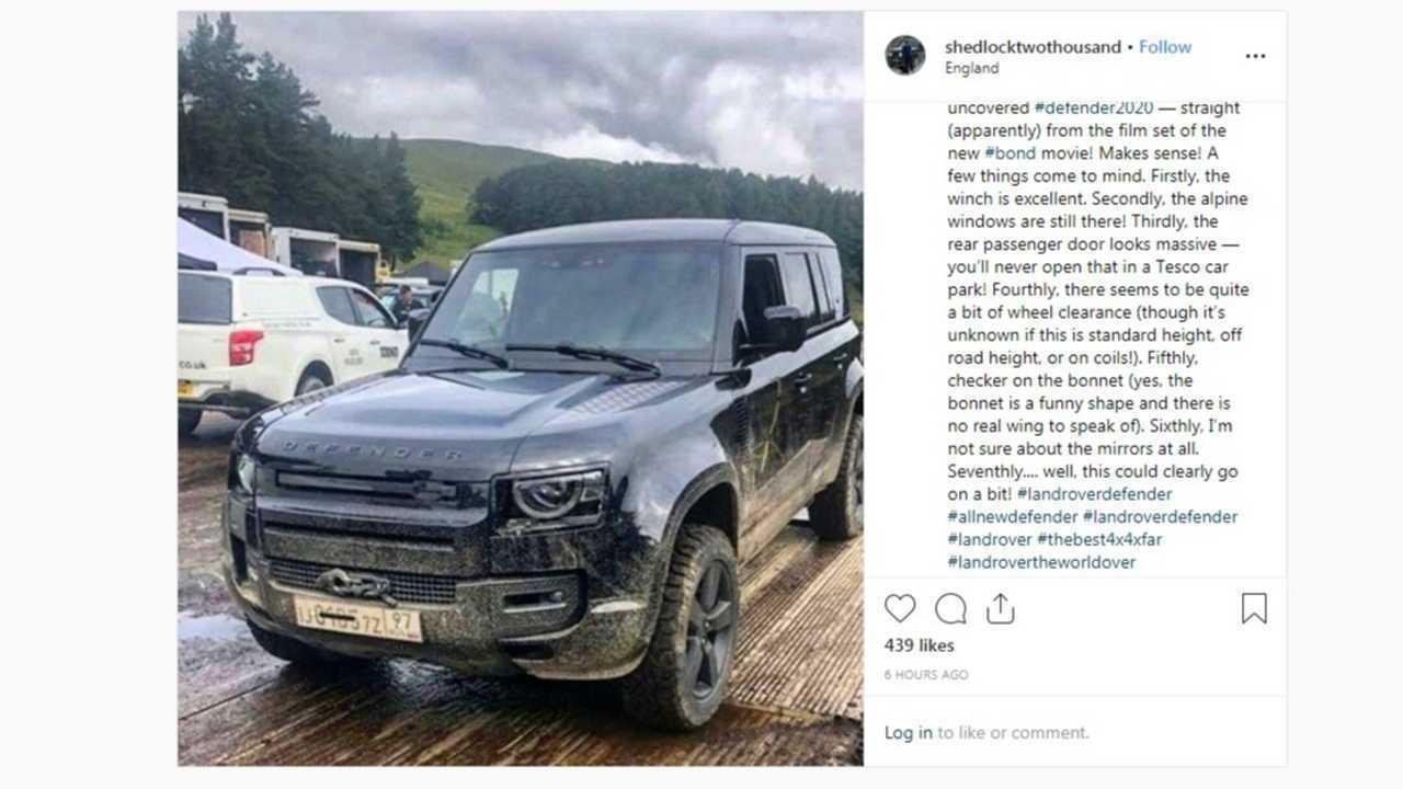 Land Rover Defender (2020) ohne Tarnung bei Dreharbeiten zu