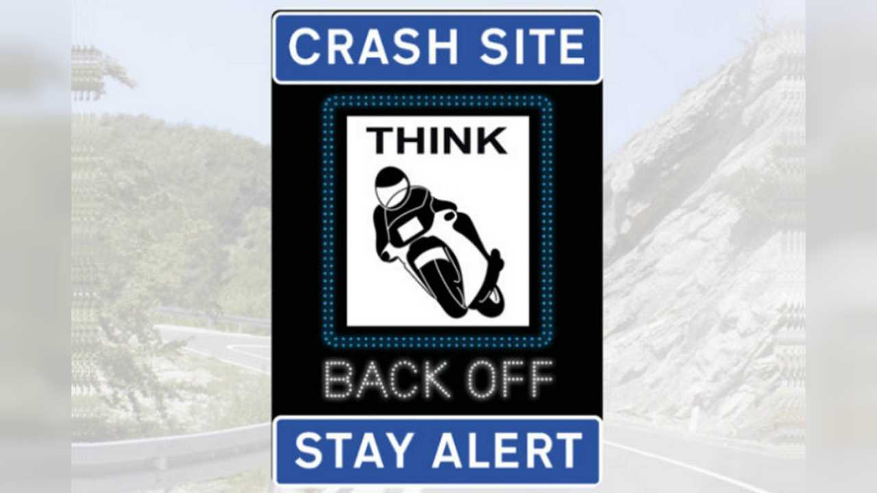 Motorcycle Radar Flashy Sign