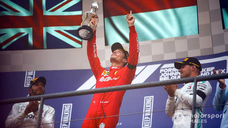 Belgian GP: Leclerc holds off Hamilton to take first F1 win