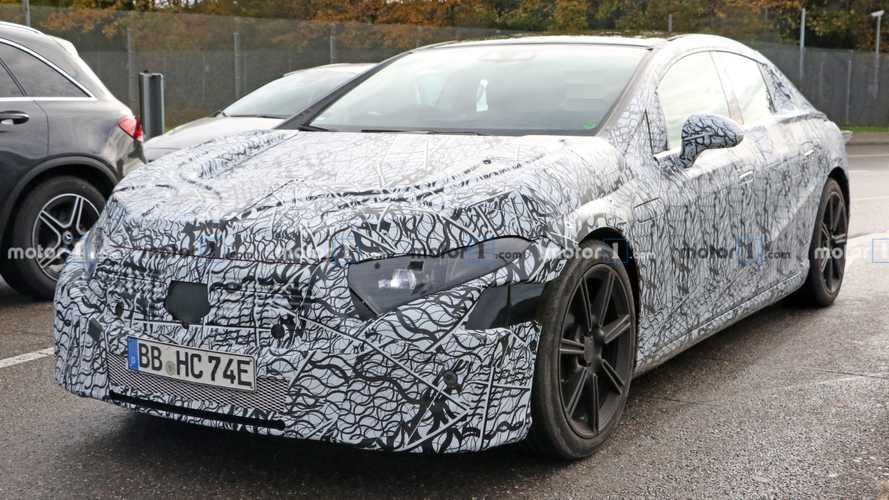 Mercedes EQS spied trying to conceal its curves