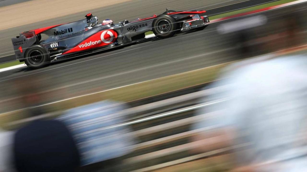 Jenson Button (GBR), McLaren Mercedes, British Grand Prix, Friday Practice, 9.07.2010 Silverstone, England