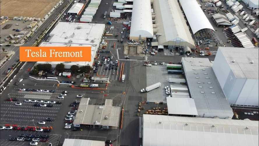 Loads Of Refreshed Tesla Model X At Fremont Factory For Delivery