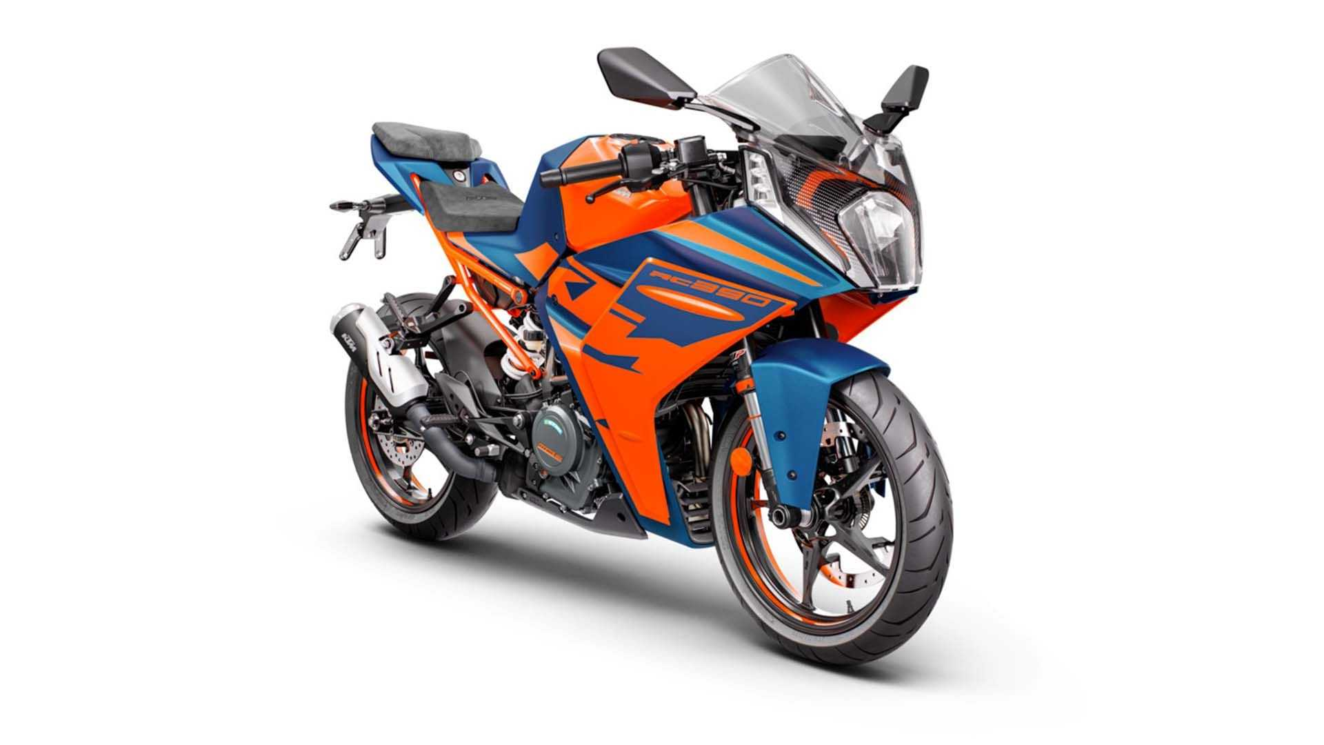 2022 KTM RC 390 - Blue, Front, Right