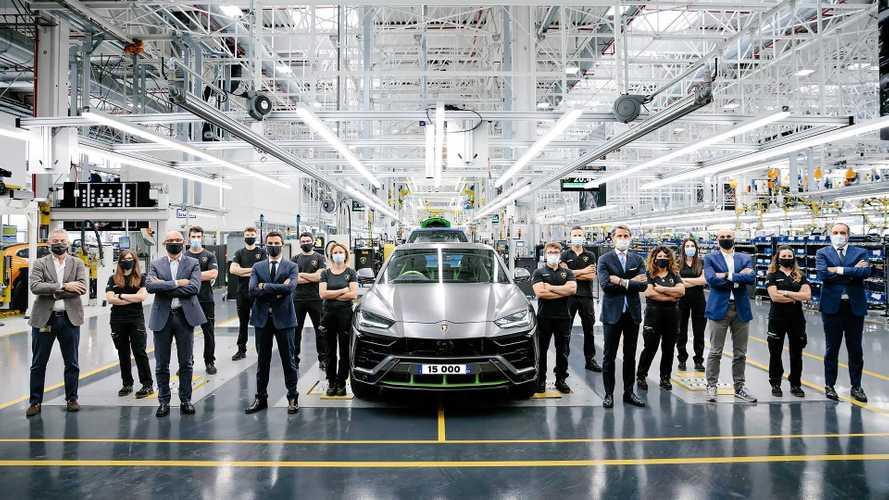Lamborghini feiert Meilenstein mit Urus Nr. 15.000
