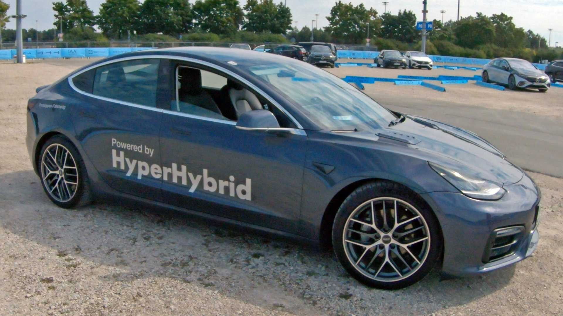 We Drive A Hybrid Tesla Model 3 That Runs On Gasoline