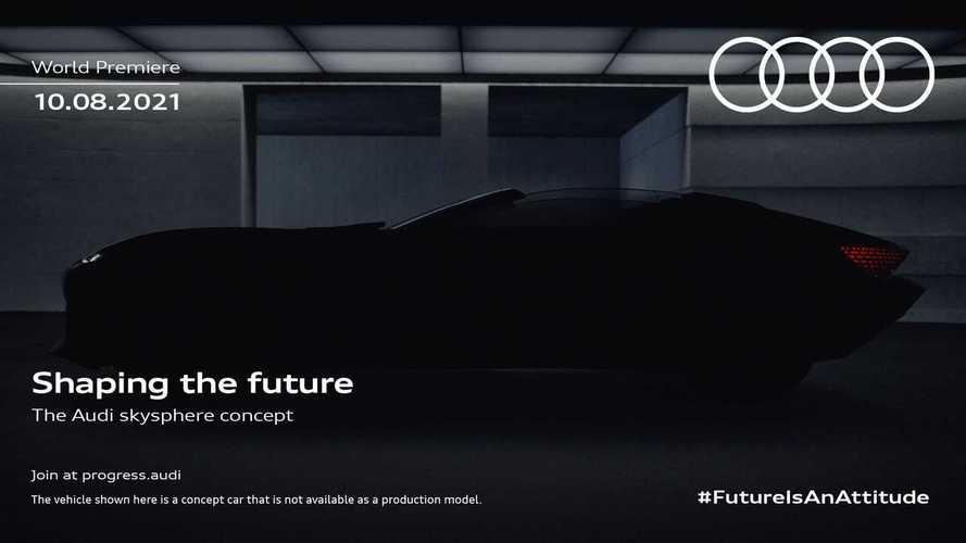 Audi Skysphere Concept Teaser Reveals High-Tech Vehicle's Sleek Shape