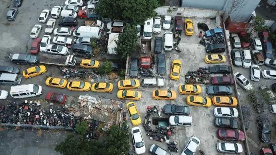 Yediemin otoparkları taksilere teslim oldu