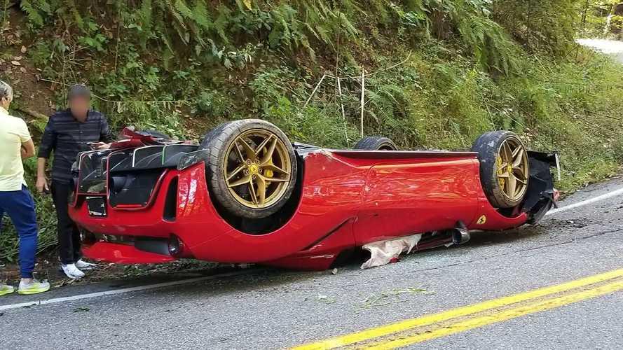 Ferrari 488 Driver Crashes Car During Tail Of The Dragon Cruise