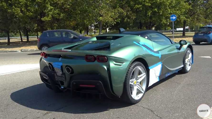 Ferrari SF90 Stradale Spied Wearing A Gorgeous Green Finish